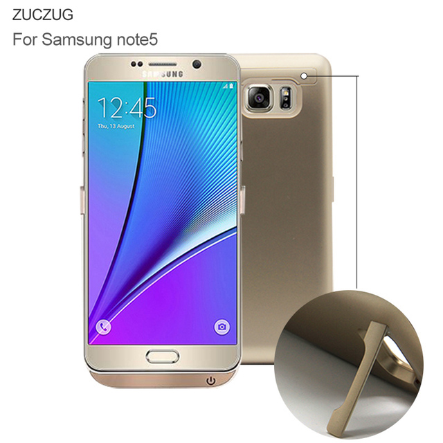 5200 mAh NOT Samsung Galaxy Için 5 Güç Kılıfları NOTE5 N9200 Harici Şarj Case Şarj Edilebilir Güç Banka Pil Batteria Kapakları