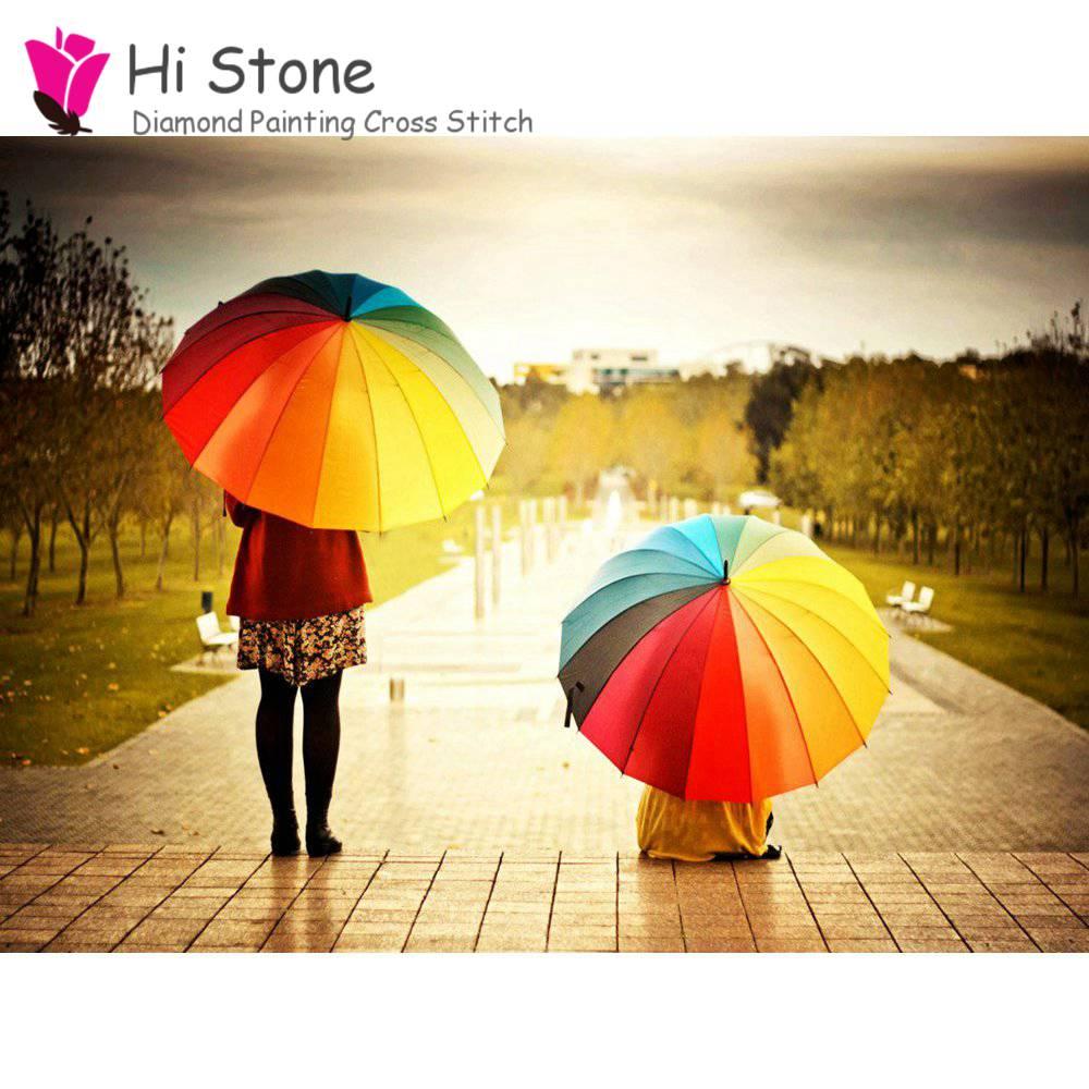 5D DIY алмазов картина девушка с зонтиком вышивки крестом алмазов вышивка полный squareMosaic украшения подарок