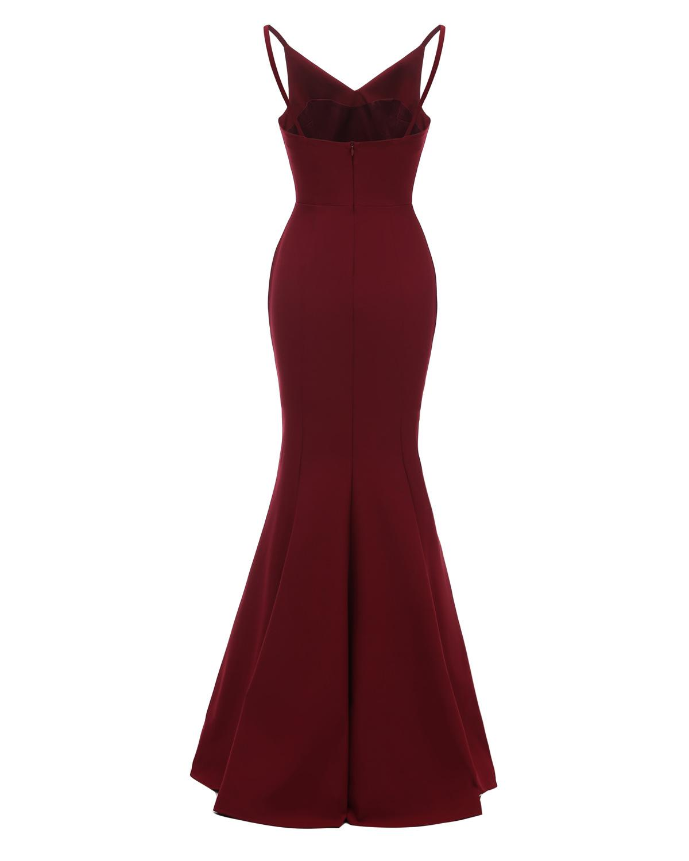 Spaghetti Strap Burgundy Robe Mermaid Bridesmaid Dresses 2019 Longue Dentelle Sleeveless Navy Blue Wedding Guest Party Gowns