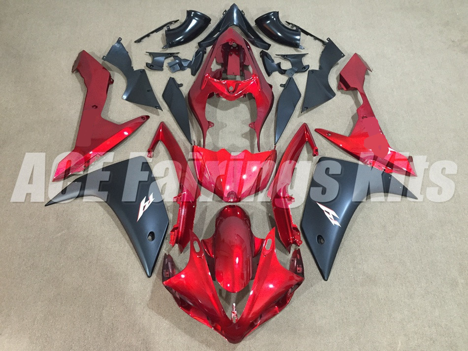 New Hot Injection mold <font><b>Fairing</b></font> kit 100% fit for <font><b>YAMAHA</b></font> YZFR1 07 08 YZF <font><b>R1</b></font> <font><b>2007</b></font> 2008 YZF1000 ABS <font><b>Fairings</b></font> set Custom red black image