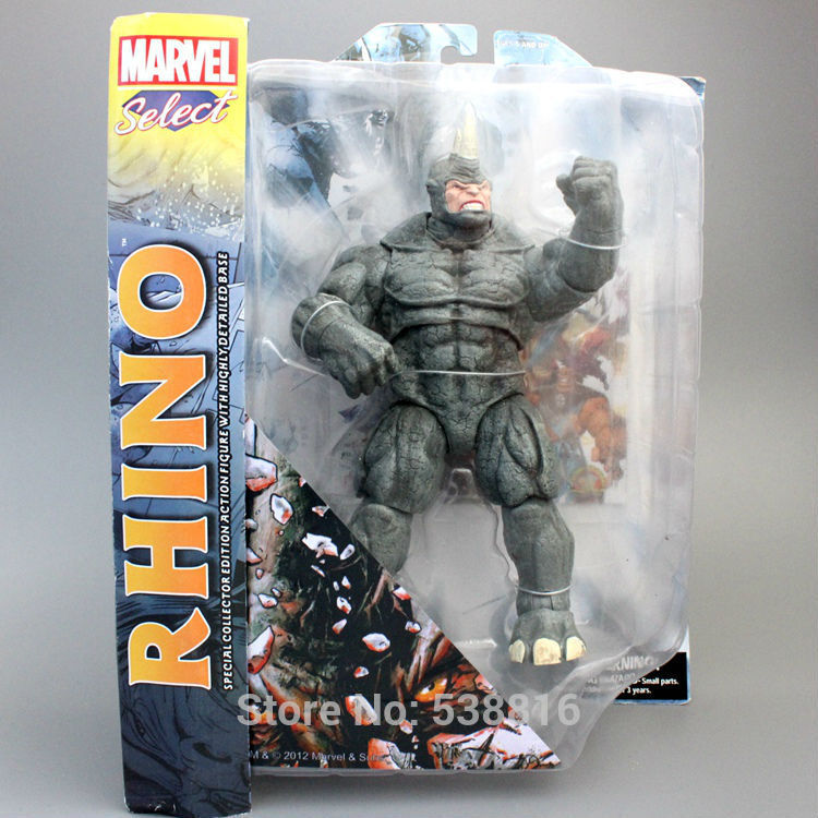 "<font><b>Marvel</b></font> <font><b>Select</b></font> The Amazing Spider-Man 2 <font><b>Rhino</b></font> <font><b>Action</b></font> <font><b>Figure</b></font> Collectible Toy 9"" 22CM"