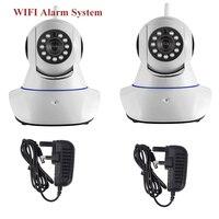 2pcs Wireless WiFi IR Cut IP Camera HD 1MP CMOS Security CCTV IP Camera Alarm PT