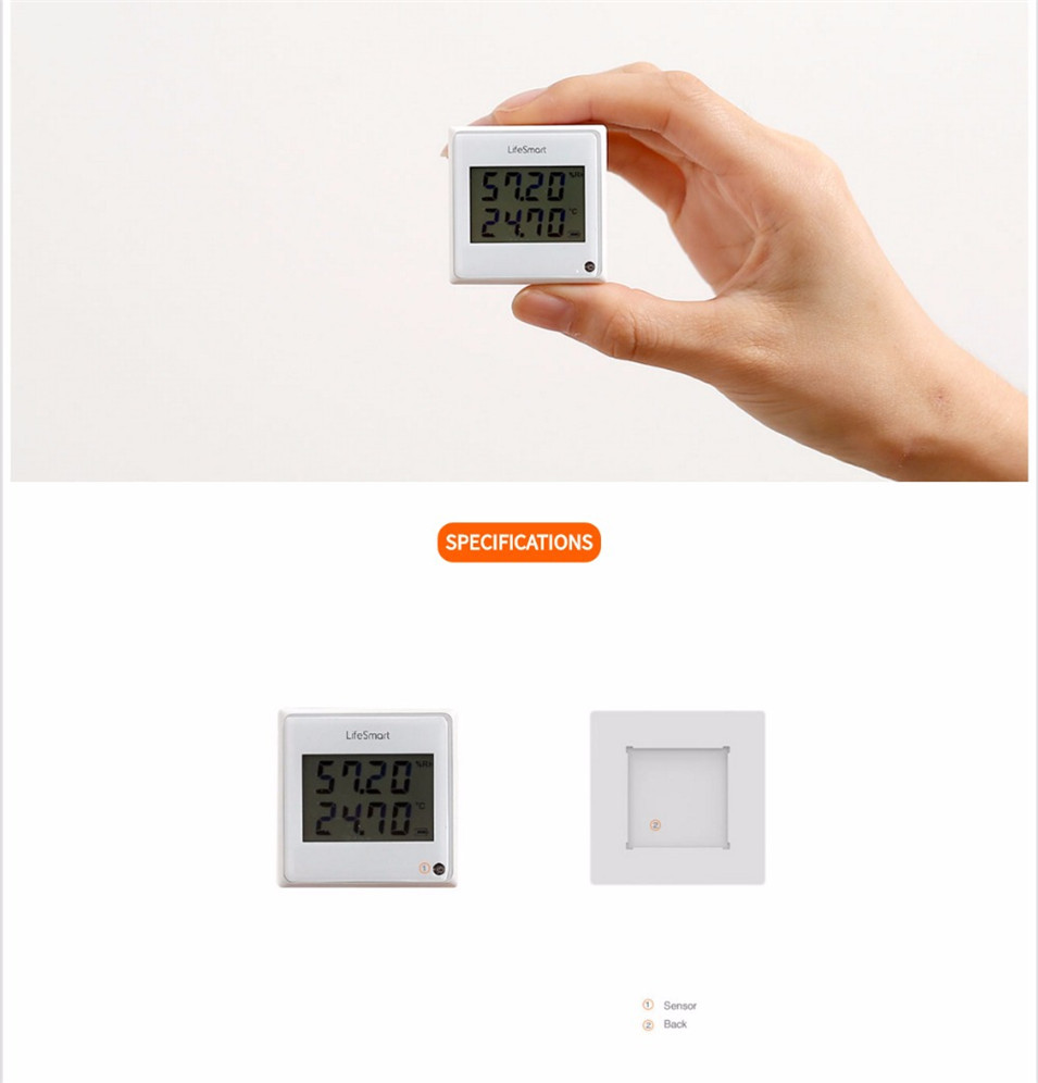 9 --- Lifesmart Multifunctional Environment Sensor 433MHZ Monitor Indoor Temperature, Humidity App Realtime View Remote Control by APP