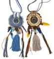 New Womens clothing accessories Bohemia Ethnic long fringe tassle pendant Necklace handmade feather charm Moon Pendant Necklace