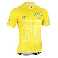 ツール·ド·フランス半袖プロサイクリングジャージ自転車ジャージマイヨciclismoロードバイクレーシングサイクリング服トップス# XT-093