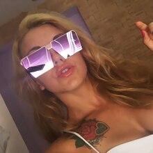 Fashion Brand Design Sexy Ladies Oversized Square Sunglasses