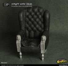 CM Toys 1/6 Black Single Sofa Chair Furniture Model Toys F 12″ Action Figure Accessory Collections