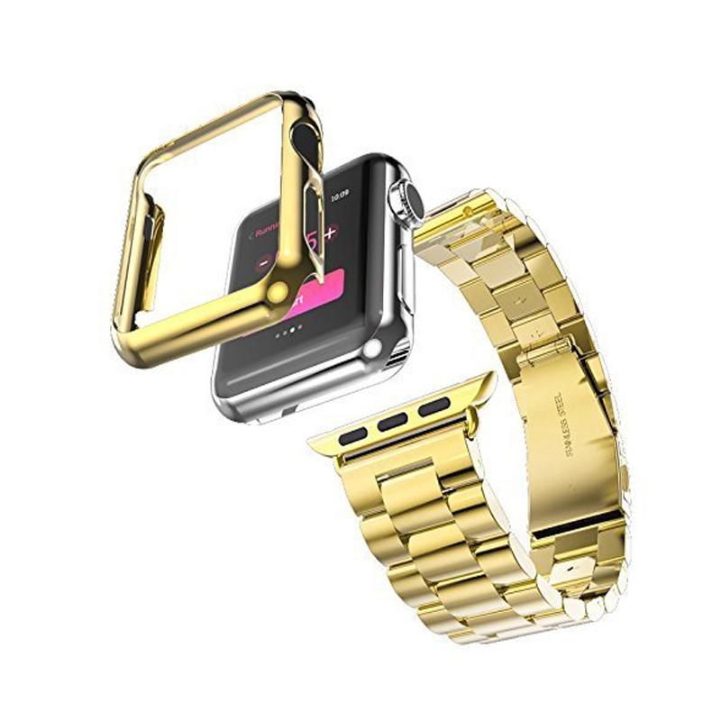 Correia de aço inoxidável de três links para Apple Watch Band com - Acessórios para relógios - Foto 2