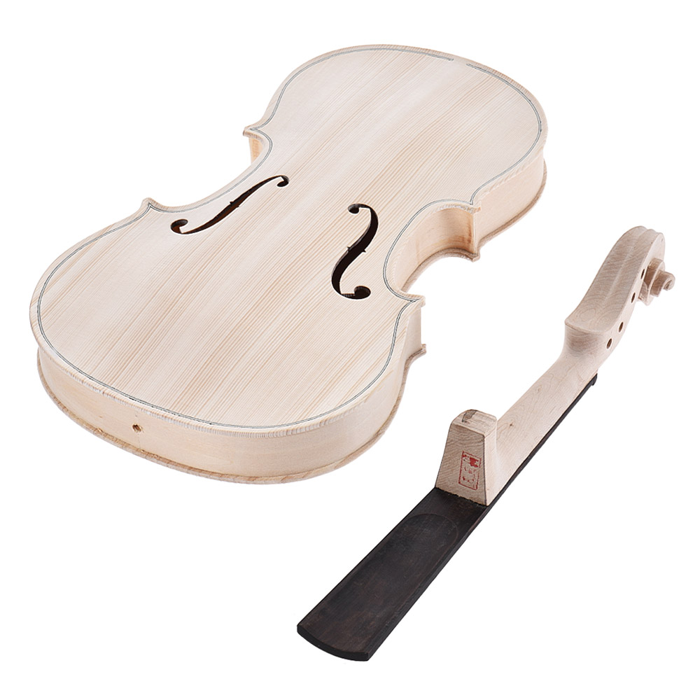 4/4 Full Size Violin DIY Kit Natural Solid Wood Acoustic Violin Fiddle Kit with EQ Spruce Top Maple Fingerboard-in Violin from Sports & Entertainment    2