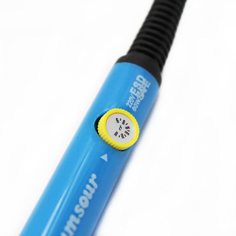 Паяльник 60 Вт с регулируемой температурой, Электрический паяльник, паяльная станция с мини ручкой, термокарандаш, сварочные инструменты для ремонта
