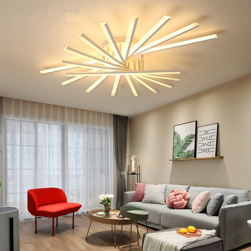 Postmodern LED chandelier ceiling living room ceiling lamps Nordic deco fixtures Acrylic lighting bedroom hanging lights