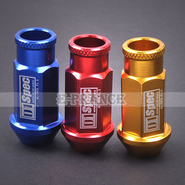 High quality aluminum Racing Wheel Lug Nuts M12x1.5 Color Optional 20 piece #CM0032