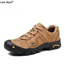 Vintage Men Boots Lace-Up Autumn Leather Martin Boots Men Waterproof Work Tooling Ankle Boots Men Shoes Footwear Botas886