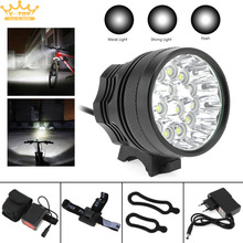 T6 LED 15x XM-L Bicycle Lamp Bike Light Headlight Cycling Torch with 8.4V Battery Set