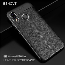 BSNOVT For Huawei P20 Lite Case Soft Silicone TPU Leather Shockproof Phone Shell Nova 3E Bag