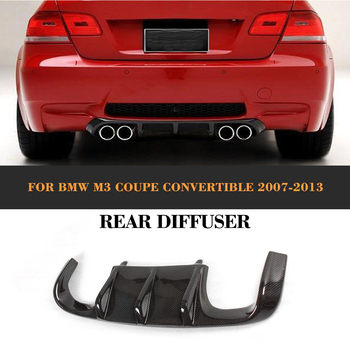 Carbon Fiber Car Rear Bumper Lip Spoiler Diffuser for BMW E92 E93 Coupe M3 2007-2013 Convertible Non E90 4 Door Black FRP Add On image