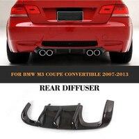 Carbon fiber Add On car rear bumper lip Spoiler diffuser for BMW E92 E93 Coupe M3 2007 2013 Convertible Non E90 4 Door Black FRP