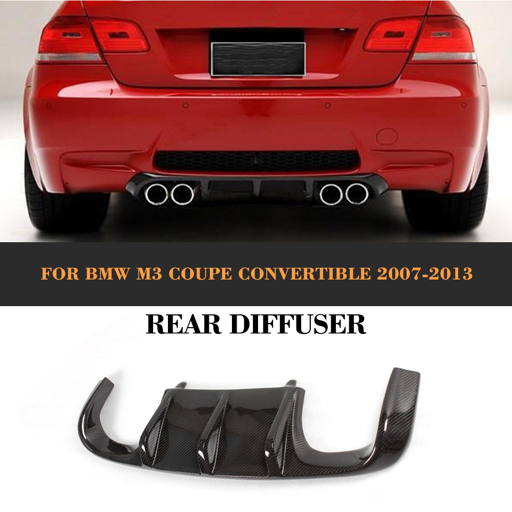 Carbon fiber Add On car rear bumper lip Spoiler diffuser for BMW E92 E93 Coupe M3 2007-2013 Convertible Non E90 4 Door Black FRP olotdi carbon fiber front lip spoiler gts style front bumper for bmw e92 e93 m3 bumper car styling accessories factory