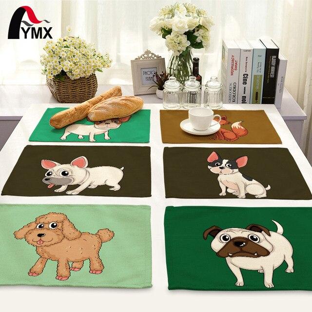 42*32cm Animal Dog 100 Polyester Napkins On The Table Napkins Cat Sheep For  Decoupage