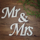 PVC Wood Letters For Any English Name Word Showing Polished White Mr & Mrs Letters White Number For Wedding Decoration & Gift
