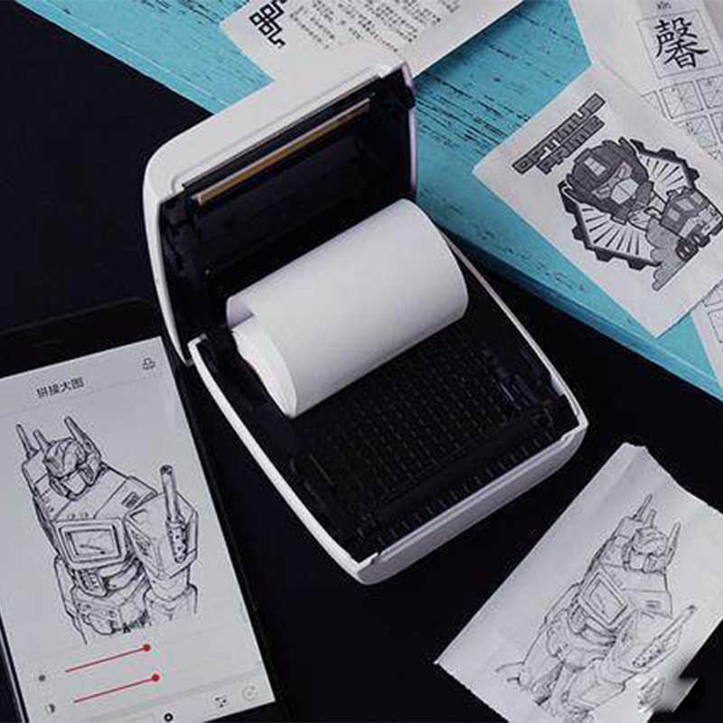 PAPERANG P2 miniimpresora portátil de bolsillo con Bluetooth, etiqueta adhesiva térmica para fotos, 300 DPI, para teléfonos iOS y Android Windows