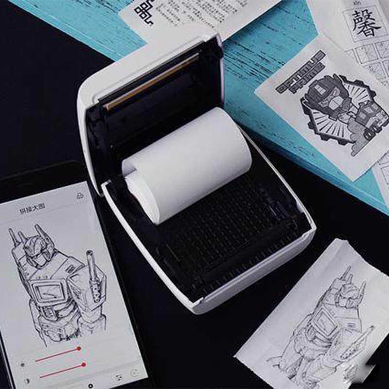 Paperang P2 Bỏ Túi Mini Bluetooth Di Động Nhiệt Nhãn Dán Ảnh Hình Máy In 300 Dpi Cho Di Động IOS Android Windows