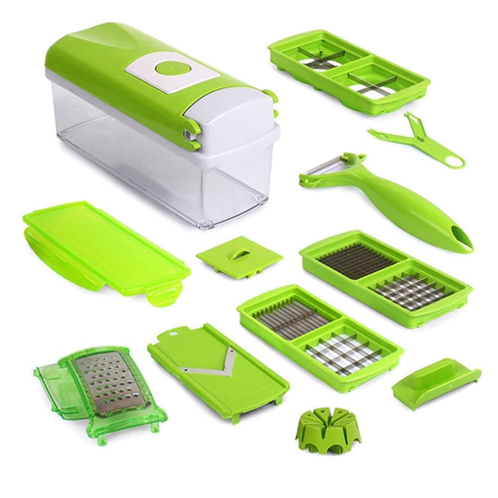 Home Kitchen 12PCS/Set Multifunction Vegetable Shredder Machine Fruits fruit Device chopper Slicer Cutter dicer Diced mixer