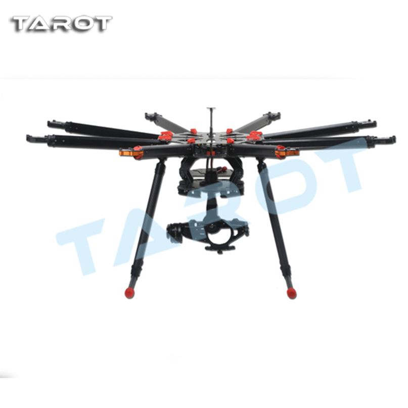 Tarot X8 8 Aixs Umbrella Type Folding Frame Kit Multicopter Uav Octocopter Drone TL8X000 With Retractable Landing Gear f11270 tarot x8 tl8x000 8 axle octocopter umbrella type folding frame multicopter electronic retractable landing skid for fpv