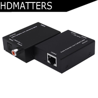 Coaxial&Spdif toslink Digital audio extender by cat5e/6 cable up to 300M with power adaper