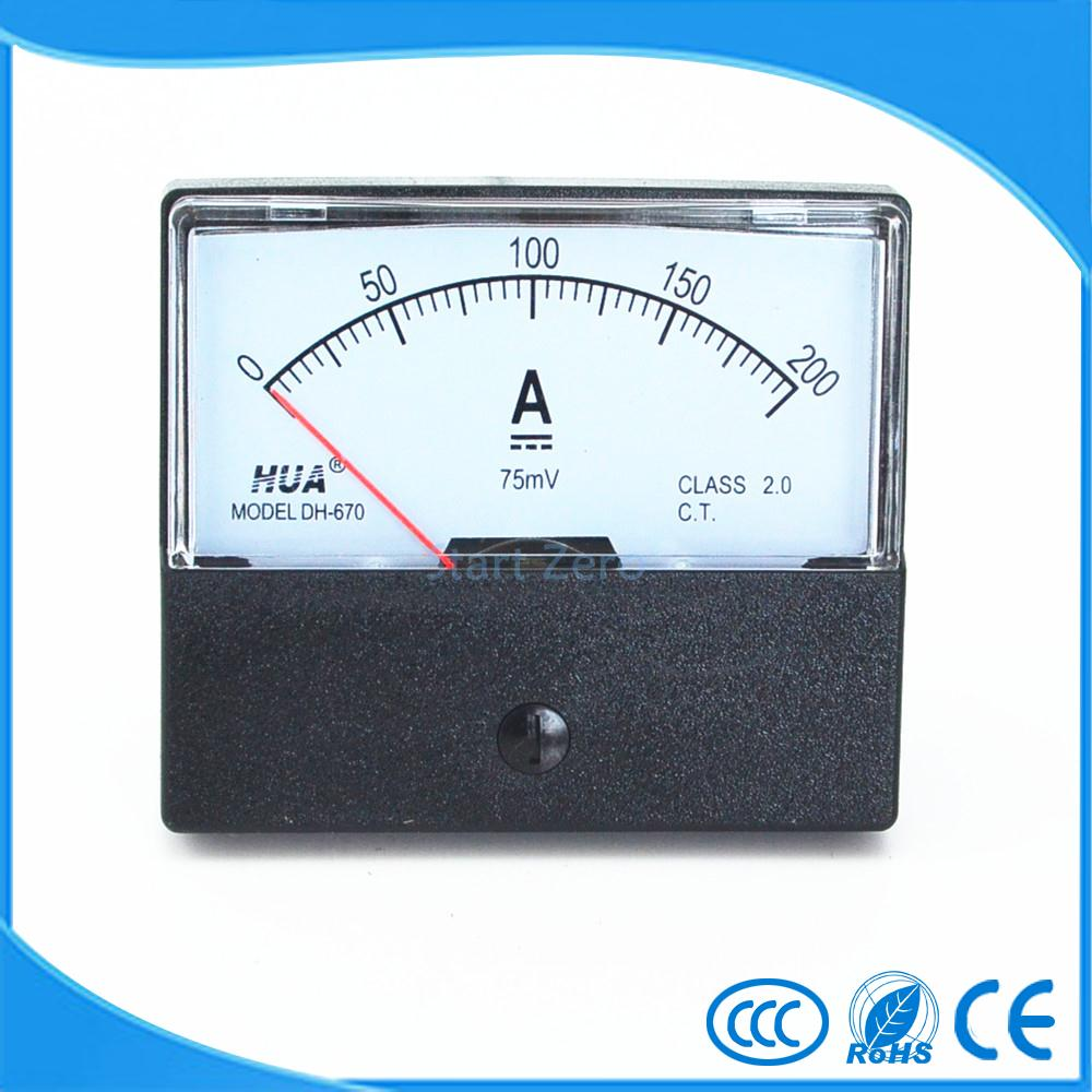 A Carcasa transparente DC 0-5A amper/ímetro anal/ógico 85c1