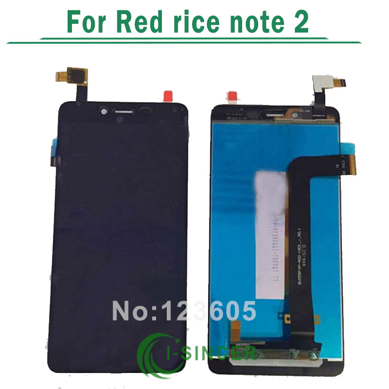 1/PCS For xiaomi hongmi redmi red note 2 LCD Display screen and touch Digitize Assembly Free shipping
