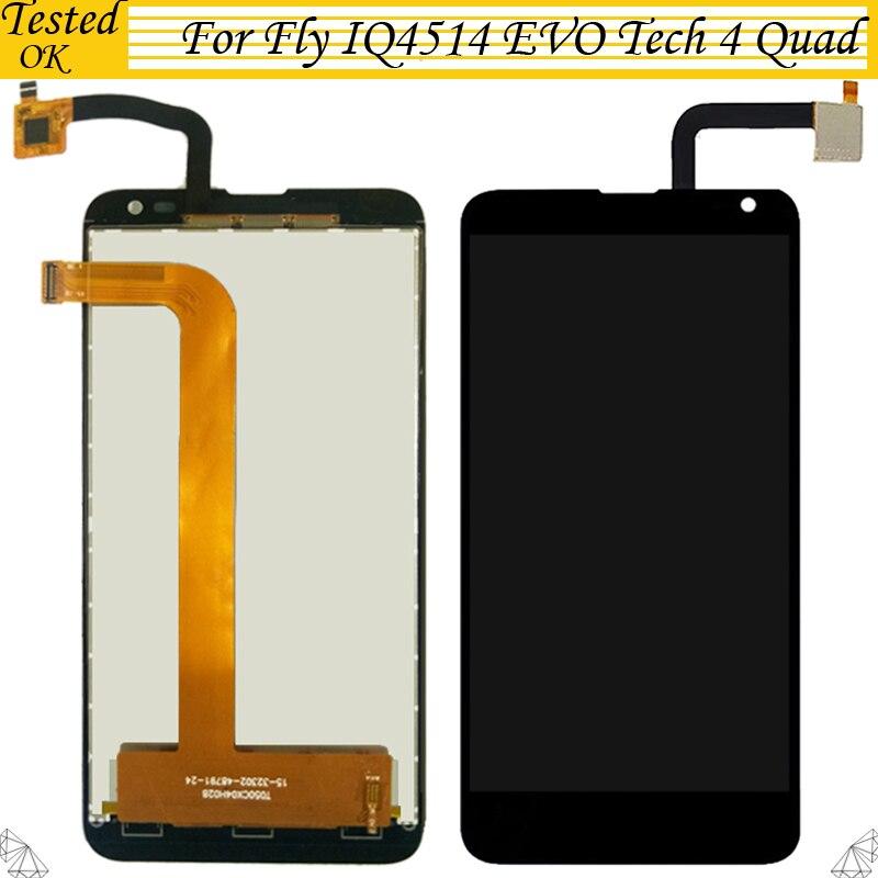 100% Testado Trabalhando Para Voar EVO Tecnologia IQ4514 4 Quad Display LCD Para A MOSCA IQ 4514 Display LCD Com tela de Toque tela Assembléia Dizitizer