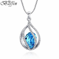 2016 New Drop Necklaces Pendants Crystals From Swarovski Elements Women Collares Jewelry Mother S Day Gift