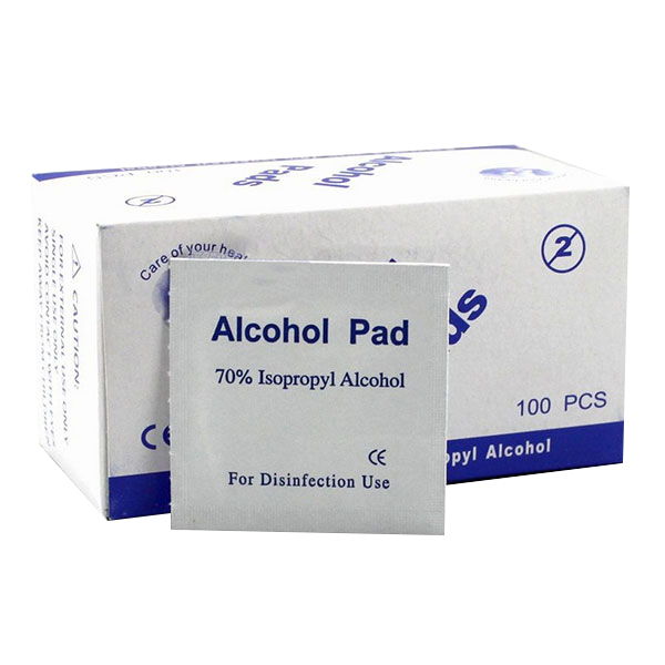 By DHL Or EMS 100packs Portable 100pcs/pack Alcohol Swabs Pads Wipes Skin Cleanser Sterilization 70% Isopropyl First Aid Home