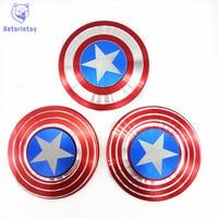 Hand Spinner Captain America EDC Tri Spinner Fidget Toys Metal Fidget Spinner ADHD Adults Kids Children