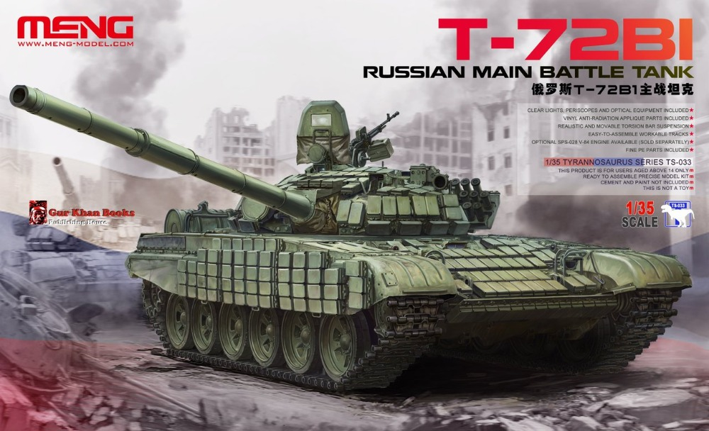 Meng Model TS-033 1/35 Russina Main Battle Tank T-72B1