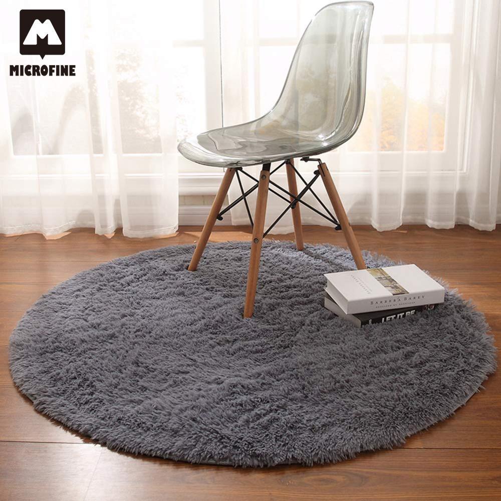 Microfine Round Modern Soft Carpet Nordic Kids Rug Indoor Parlor Rug Bedroom Besides Child Room Mats Living Room 2019