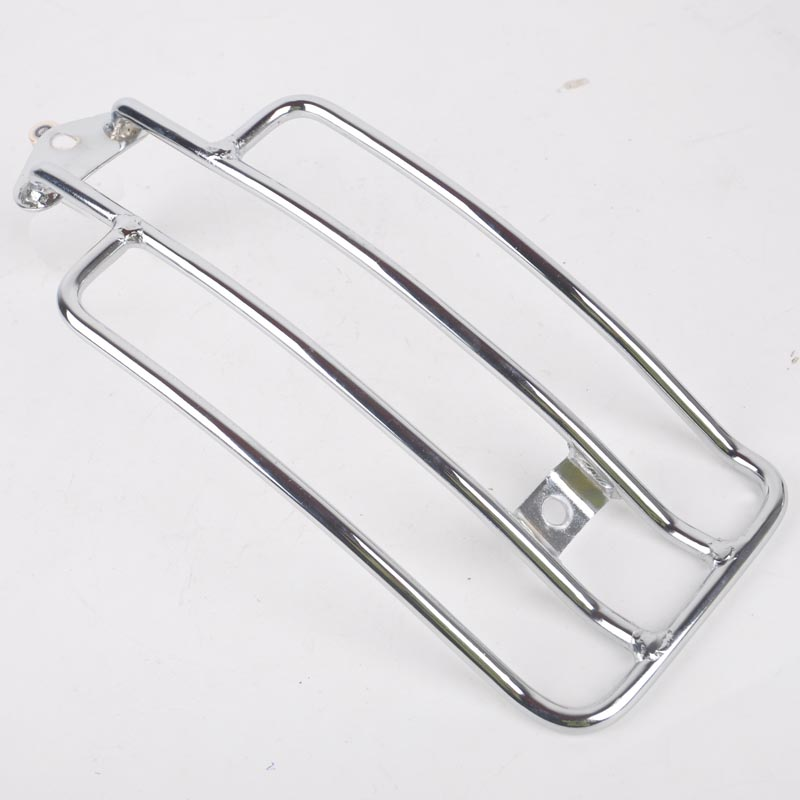 Chrome Style Motorcycle Metal Steel Solo Seat Luggage Rack Rear Fender Support Shelf for Harley Sportster Kawasaki Suzuki Honda for ktm 390 duke motorcycle leather pillon passenger rear seat black color