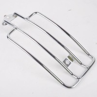 Chrome Style Motorcycle Metal Steel Solo Seat Luggage Rack Rear Fender Support Shelf for Harley Sportster Kawasaki Suzuki Honda