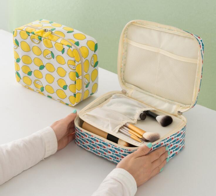 Cosmetics Storage Box Holder Makeup Organizer Box Cosmetics Holder Organizer Modern Fabric Travel Storage Bag Home Storage