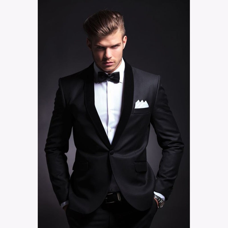 Fashion men suit 2017 slim fit men suits latest coat pant design wedding party blazer groom tuxedos costume homme JACKET+PANTS