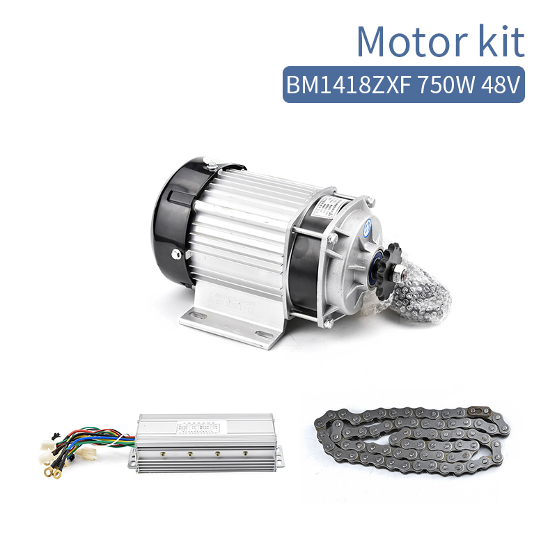 BM1418ZXF 750W 48V 60V DC Electric Brushless Motor Kit BLDC Controller Chain Set E-Tricycle Motorcycle Conversion Kit 2800RPMBM1418ZXF 750W 48V 60V DC Electric Brushless Motor Kit BLDC Controller Chain Set E-Tricycle Motorcycle Conversion Kit 2800RPM
