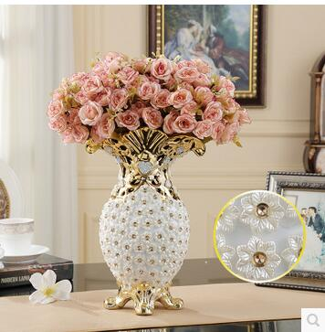 Europese creatieve grote vaas Luxe keramische decoratie De woonkamer ...