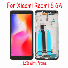 100% Tested Working Glass Panel LCD for Xiaomi Hongmi Redmi 6 6A Display Touch Screen Digitizer Assembly Sensor + Frame цена и фото