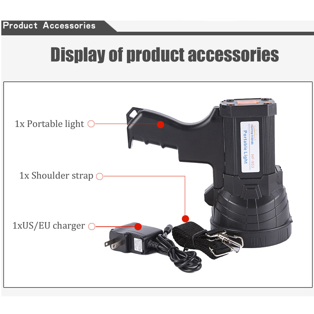 Superbright USB Gun Flashlight Rechargeable 18650 Battery Included 3 mode Tactiacl Spotlight with side light in LED Flashlights from Lights Lighting
