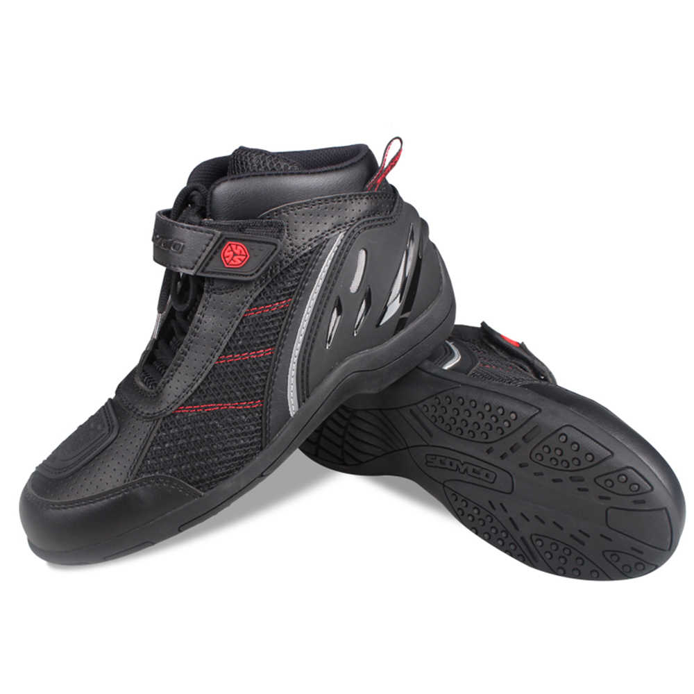 Chaussures de Moto été hommes bottes respirant Motocross tout-terrain course en cuir Moto bottes Moto équitation vêtements de protection chaussures