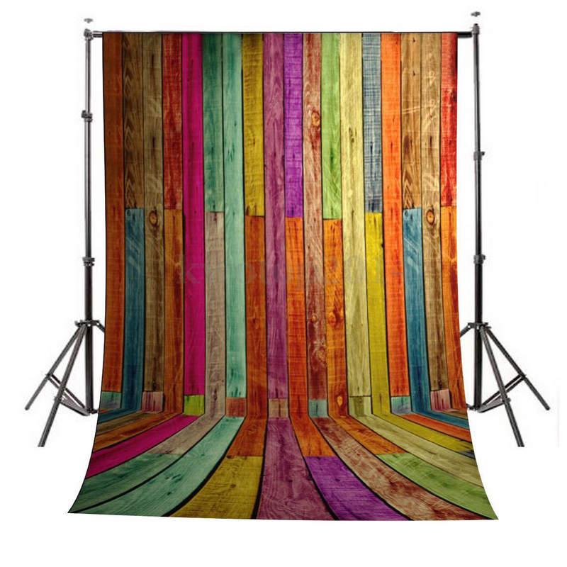 Mayitr 3x5ft Vinyl BackGround Colourful Painted Wood Wall Floor Prop Photography Backdrop For Photo Studio 10ft 20ft romantic wedding backdrop f 894 fabric background idea wood floor digital photography backdrop for picture taking