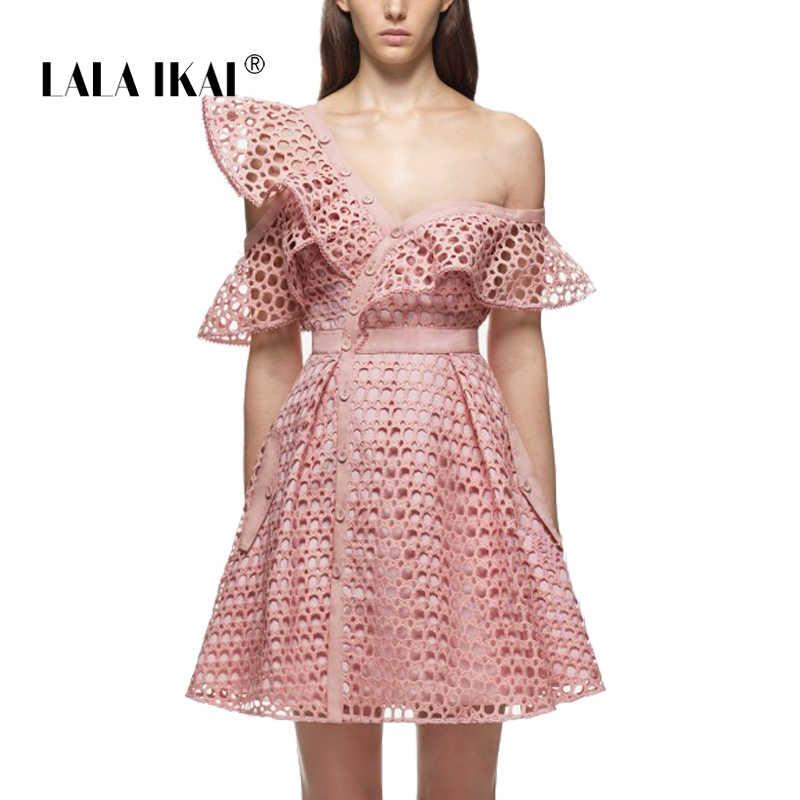 2df43e6970e 2018 4 цвета платья принцессы Для женщин брендовые летние полые Туника  Платье женское платье с рюшами