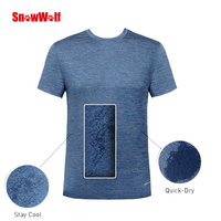 SNOWWOLF Outdoor Summer Quick Dry UV Protect Breathable Men's Sport Ice short T Shirt For Running Camping Climbing Hiking Shirts