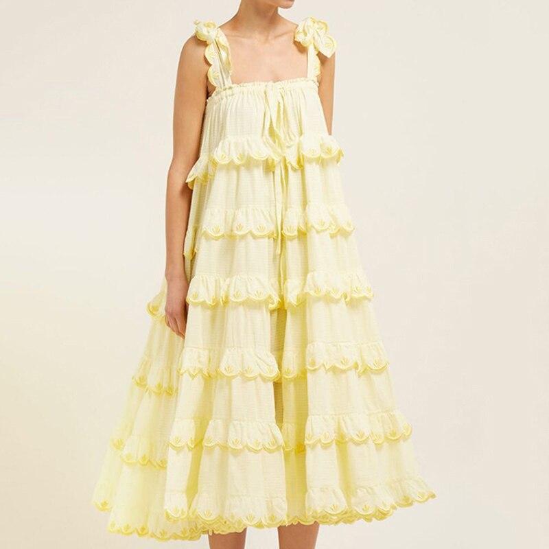 VGH 2019 Feste Koreanische EINE Linie Kleid Für Frauen Liebsten Weg Schulter Backless Rüschen Lose Midi Weibliche Kleider Mode Neue sommer - 3